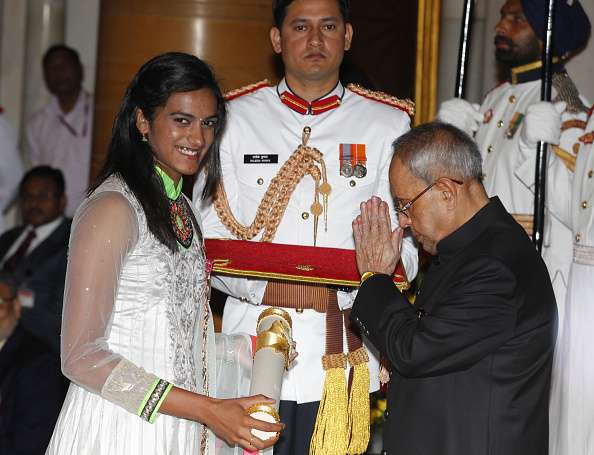 Image result for p v sindhu padmasree