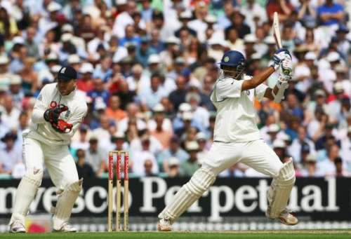 Rahul Dravid in action aginst England in a Test match