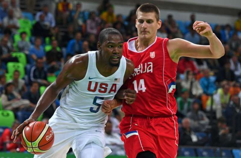 4ad6048ff22 Rio Olympics 2016  USA basketball team narrowly defeat Serbia 94-91 amidst  growing concerns