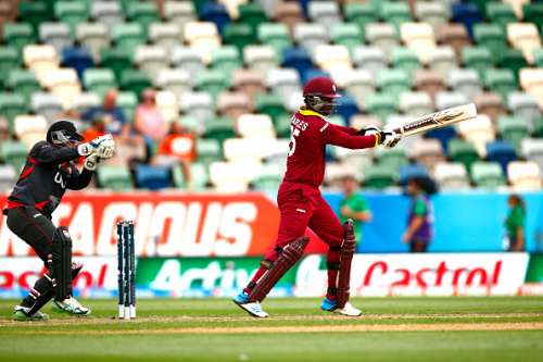 NAPIER, NEW ZEALAND - MARCH 15:  Johnson Charles of the West Indies bats  during the 2015 ICC Cricket World Cup match between the West Indies and United Arab Emirates at McLean Park on March 15, 2015 in Napier, New Zealand.  (Photo by Phil Walter/Getty Images)