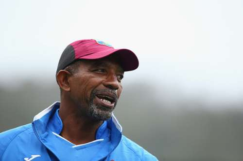 HOBART, AUSTRALIA - DECEMBER 08: West Indies coach Phil Simmons looks on during a West Indies training session at Blundstone Arena on December 8, 2015 in Hobart, Australia.  (Photo by Robert Cianflone/Getty Images)