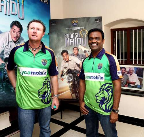 Lyca Kovai Kings' Lance Klusenar at a promotional vent in Chennai ahead of the TNPL