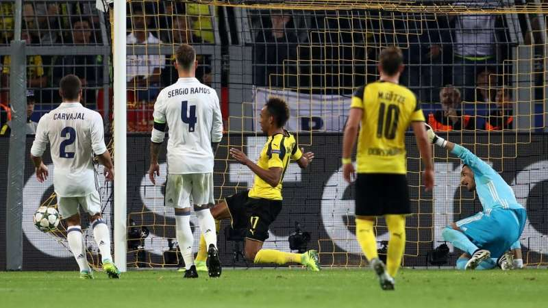 Uefa Champions League 2016 17 Borussia Dortmund 2 2 Real Madrid