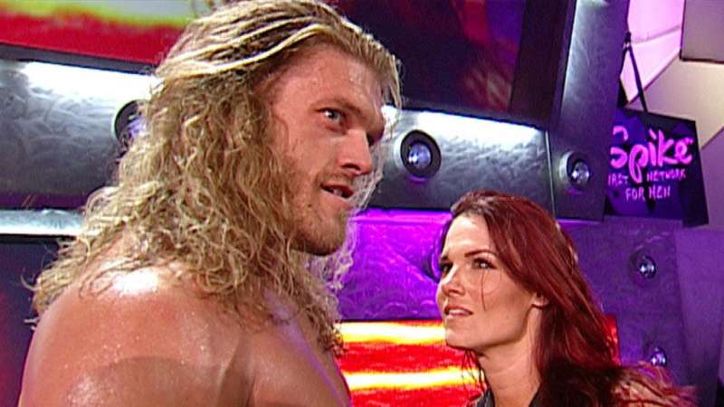 Lita betrays Kane and kisses Edge