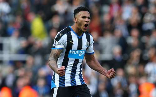 NEWCASTLE, ENGLAND - APRIL 30:  Jamaal Lascelles of Newcastle United reacts at full time during the Barclays Premier League match between Newcastle United and Crystal Palace at St James Park on April 30, 2016 in Newcastle, England. (Photo by Ian MacNicol/Getty images)