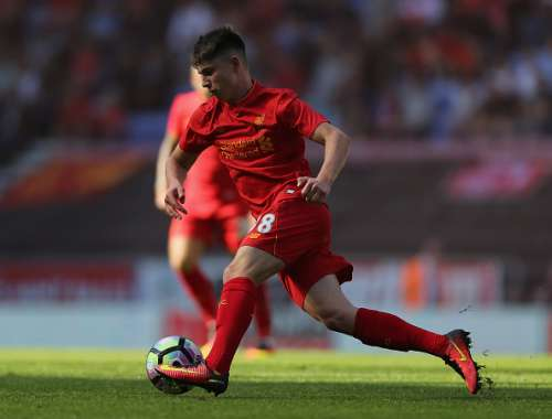WIGAN, ENGLAND - JULY 17:  Ben Woodburn of Liverpool during the Pre-Season Friendly match between Wigan Athletic and Liverpool at JJB Stadium on July 17, 2016 in Wigan, England.  (Photo by Nigel Roddis/Getty Images)