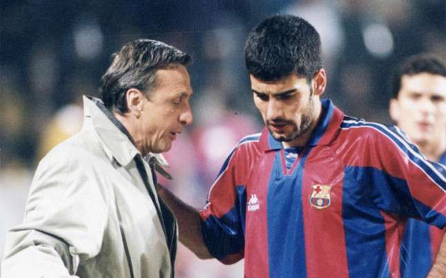 Johan Cruyff rescued Pep Guardiola from being sold by Barcelona