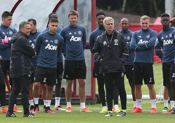 Manchester United manager Jose Mourinho's training methods for Liverpool revealed