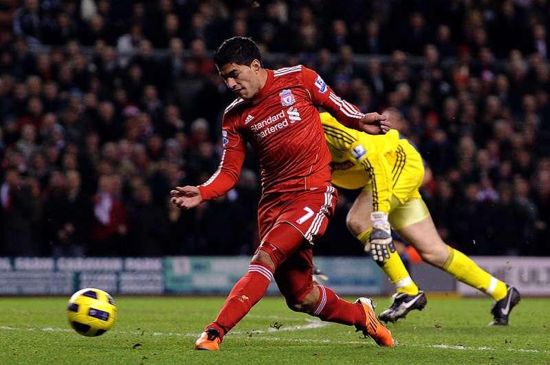 the latest 678e9 5e97e Reminiscing Luis Suarez's top five games in a Liverpool Jersey