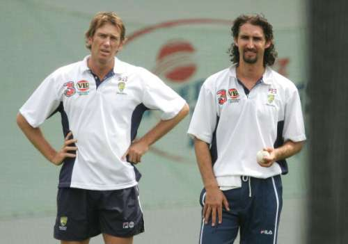 Glenn McGrath and Jason Gillespie