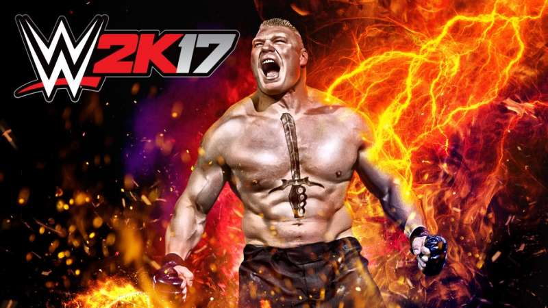 Brock Lesnar is on the cover of the brand new WWE 2K17 game