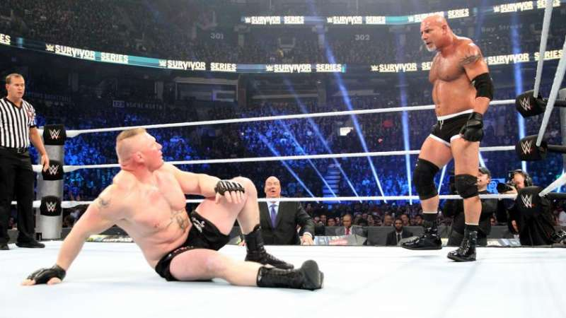Image result for Brock Lesnar vs. Goldberg