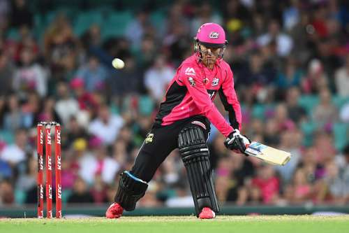 SYDNEY, AUSTRALIA - JANUARY 10:  Johan Botha of the Sixers bats during the Big Bash League match between the Sydney Sixers and the Brisbane Heat at Sydney Cricket Ground on January 10, 2016 in Sydney, Australia.  (Photo by Cameron Spencer/Getty Images)