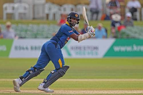 CANTERBURY, ENGLAND - JULY 25: Thisara Perera of England Lions of Sri Lanka A during the Royal London One-Day match between England Lions and Sri Lanka A at The Spitfire Ground on July 25, 2016 in Canterbury, England. (Photo by Sarah Ansell/Getty Images).
