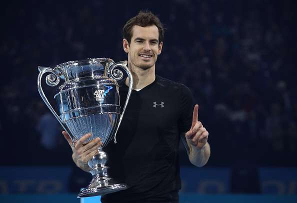 LONDON, ENGLAND - NOVEMBER 20:  Andy Murray of Great Britain following his victory during the Singles Final against Novak Djokovic of Serbia at the O2 Arena on November 20, 2016 in London, England.  (Photo by Julian Finney/Getty Images)