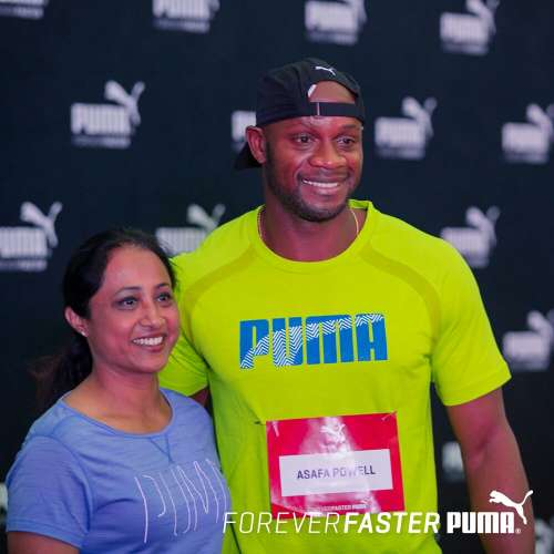 Ashwini Nachappa Asafa Powell PUMA Airtel Delhi Half Marathon ADHM 2016