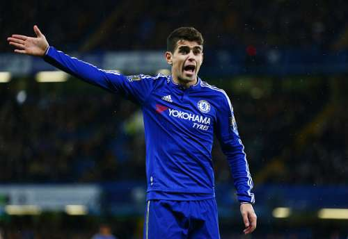 LONDON, ENGLAND - JANUARY 13: Oscar of Chelsea reacts during the Barclays Premier League match between Chelsea and West Bromwich Albion at Stamford Bridge on January 13, 2016 in London, England.  (Photo by Clive Mason/Getty Images)