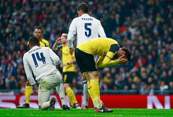 MADRID, SPAIN - DECEMBER 07: Gonzalo Castro of Borussia Dortmund reacts during the UEFA Champions League Group F match between Real Madrid CF and Borussia Dortmund at the Bernabeu on December 7, 2016 in Madrid, Spain.  (Photo by Gonzalo Arroyo Moreno/Getty Images)