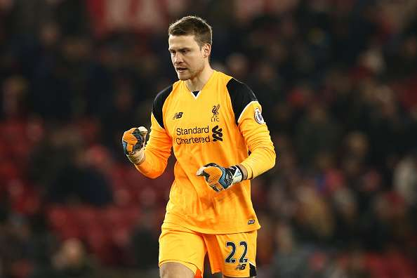 MIDDLESBROUGH, ENGLAND - DECEMBER 14: Simon Mignolet of Liverpool celebrates the final whistle during the Premier League match between Middlesbrough and Liverpool at Riverside Stadium on December 14, 2016 in Middlesbrough, England.  (Photo by Jan Kruger/Getty Images)