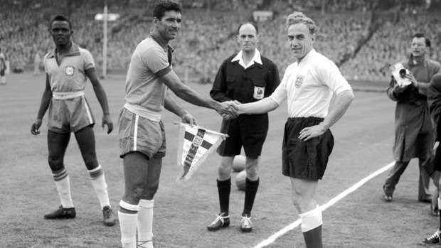 'Captain' Billy Wright (R) (Image credits: The FA)