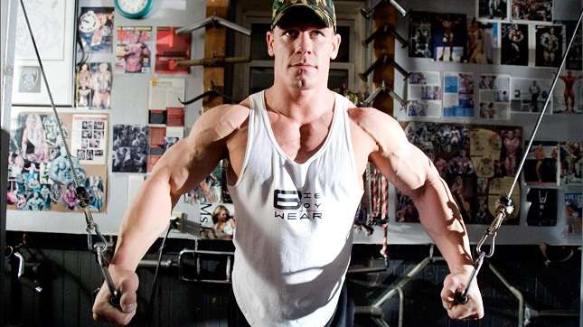 Wwe stars workout diet and fitness techniques - John cena gym image ...