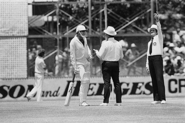 Lillee with the bat which was called 'Combat'