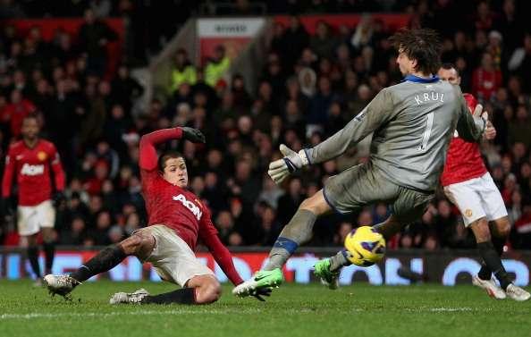 Javier Hernandez's late goal sealed the deal for Manchester United