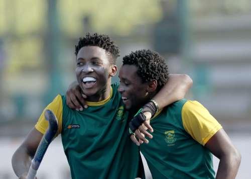 South Africa celebrate after scoring against Austria.jpg