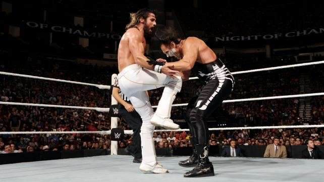 A photograph from the infamous match that ended Sting's career