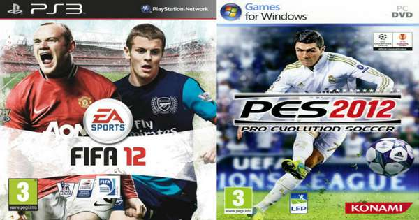 FIFA and Pro Evolution Soccer covers over the years: Who did