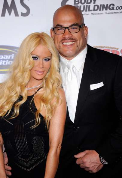 LAS VEGAS, NV - NOVEMBER 30:  Former adult film actress Jenna Jameson (L) and mixed martial artist Tito Ortiz arrive at the Fighters Only World Mixed Martial Arts Awards 2011 at the Palms Casino Resort November 30, 2011 in Las Vegas, Nevada.  (Photo by Ethan Miller/Getty Images)