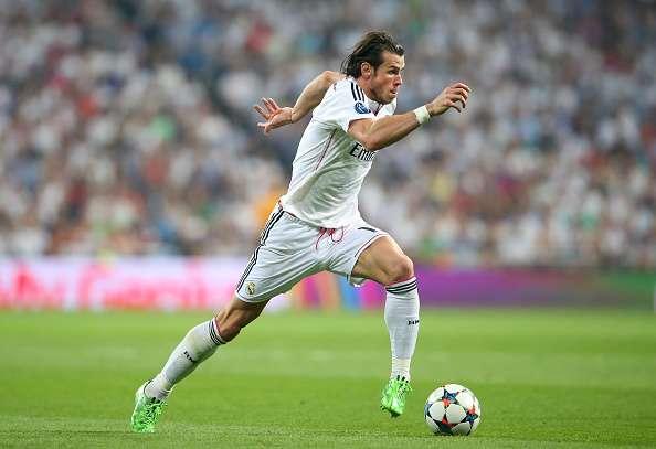 Footballer running