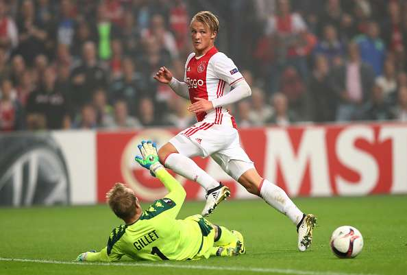 Transfer Rumour: Manchester United interested in young Ajax striker Kasper Dolberg
