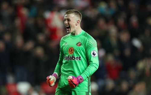 SUNDERLAND, ENGLAND - DECEMBER 17: Jordan Pickford of Sunderland reacts at the final whistle during the Premier League match between Sunderland and Watford at Stadium of Light on December 17, 2016 in Sunderland, England. (Photo by Ian MacNicol/Getty Images)