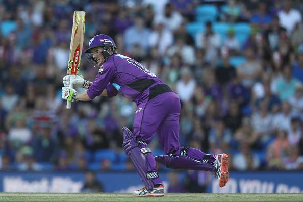 HOBART, AUSTRALIA - JANUARY 08:  George Bailey of the Hurricanes bats  during the Big Bash League match between the Hobart Hurricanes and the Sydney Thunder at Blundstone Arena on January 8, 2017 in Hobart, Australia.  (Photo by Mark Kolbe/Getty Images)