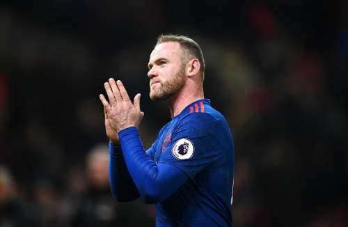 STOKE ON TRENT, ENGLAND - JANUARY 21:  Wayne Rooney of Manchester United shows appreciation to the fans after the Premier League match between Stoke City and Manchester United at Bet365 Stadium on January 21, 2017 in Stoke on Trent, England. Wayne Rooney scored his 250th goal for Manchester United in all competitions, which makes him the club's top goal scorer of all time. He surpasses the record previously held by Sir Bobby Charlton.  (Photo by Laurence Griffiths/Getty Images)