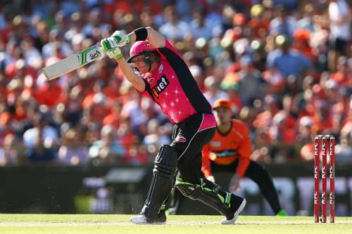 PERTH, AUSTRALIA - JANUARY 28: Brad Haddin of the Sixers bats during the Big Bash League match between the Perth Scorchers and the Sydney Sixers at WACA on January 28, 2017 in Perth, Australia.  (Photo by Paul Kane/Getty Images)