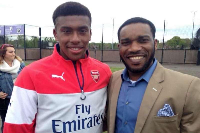 Alex Iwobi and Jay Jay Okocha