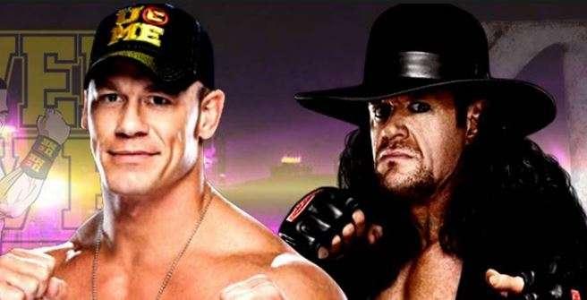 Znalezione obrazy dla zapytania John Cena The Undertaker