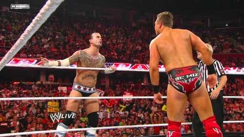 The Miz and CM Punk on Monday Night Raw