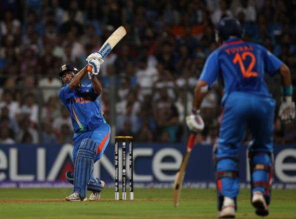 Dhoni finished off the chase in style