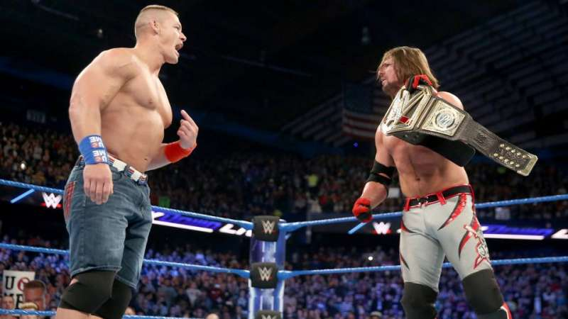 Image result for wwe john cena looking at WWE Title