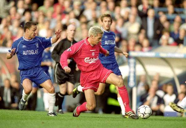 1 Oct 2000:  Christian Ziege of Liverpool in action during the FA Carling Premiership match against Chelsea at Stamford Bridge in London.  Chelsea won the match 3-0. \ Mandatory Credit: Ben Radford /Allsport