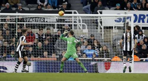 Britain Soccer Football - Newcastle United v Queens Park Rangers - Sky Bet Championship - St James' Park - 1/2/17 Newcastle's Ciaran Clark scores QPR's second with an own goal Mandatory Credit: Action Images / Lee Smith Livepic