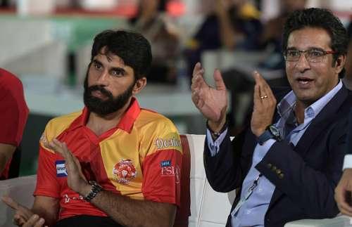 Misbah-ul-Haq and Wasim Akram