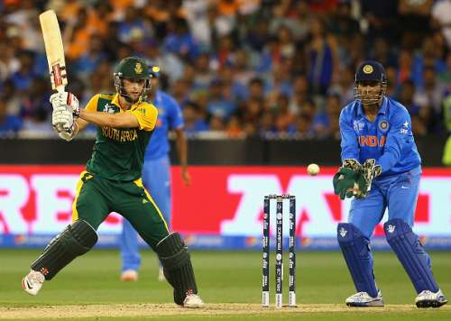 MELBOURNE, AUSTRALIA - FEBRUARY 22:  Wayne Parnell of South Africa bats during the 2015 ICC Cricket World Cup match between South Africa and India at Melbourne Cricket Ground on February 22, 2015 in Melbourne, Australia.  (Photo by Quinn Rooney/Getty Images)