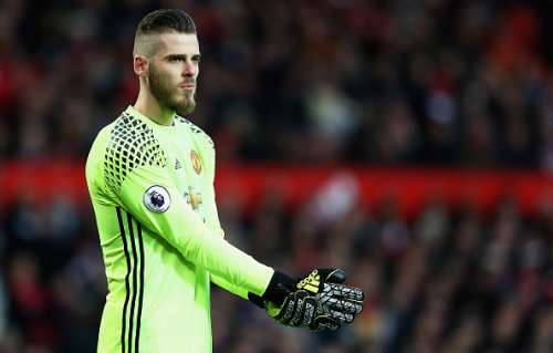 MANCHESTER, ENGLAND - DECEMBER 31:  David De Gea of Manchester United looks on during the Premier League match between Manchester United and Middlesbrough at Old Trafford on December 31, 2016 in Manchester, England.  (Photo by Matthew Lewis/Getty Images)