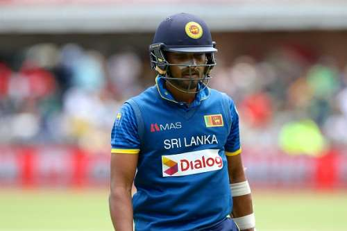 PORT ELIZABETH, SOUTH AFRICA - JANUARY 28: Dinesh Chandimal of Sri Lanka leaves the field during the 1st One Day International match between South Africa and Sri Lanka at St Georges Park on January 28, 2017 in Port Elizabeth, South Africa. (Photo by Richard Huggard/Gallo Images/Getty Images)
