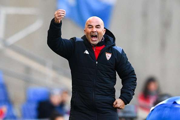 BARCELONA, SPAIN - JANUARY 29:  Head coach Jorge Sampaoli of Sevilla FC reacts during the La Liga match between RCD Espanyol and Sevilla FC at Cornella-El Prat stadium on January 29, 2017 in Barcelona, Spain.  (Photo by David Ramos/Getty Images)