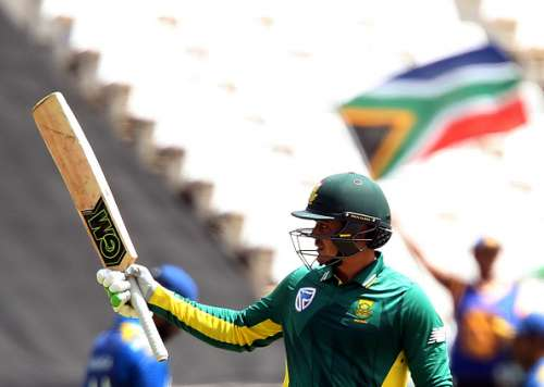 CAPE TOWN, SOUTH AFRICA - FEBRUARY 07: Quinton de Kock of the Proteas during the 4th ODI between South Africa and Sri Lanka at PPC Newlands on February 07, 2017 in Cape Town, South Africa. (Photo by Carl Fourie/Gallo Images/Getty Images)